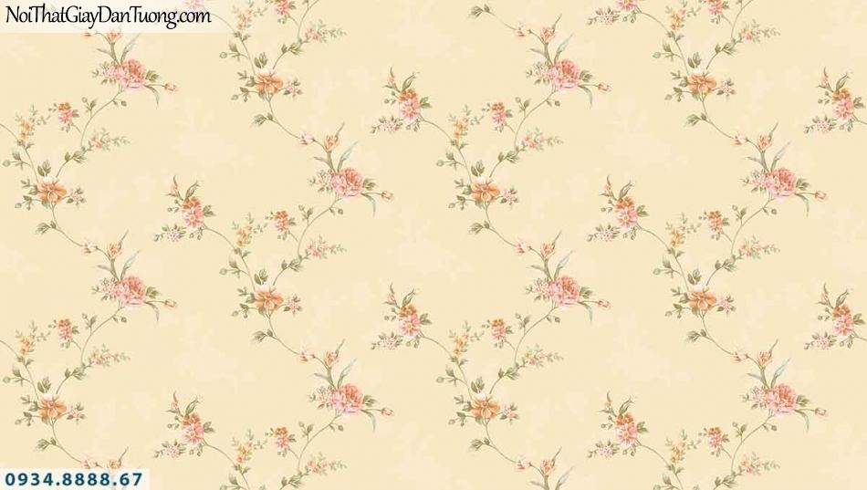 Lily | Giấy dán tường Lily 36001-3 | dây leo những bông hoa nhỏ màu vàng, dây hoa leo tường đẹp