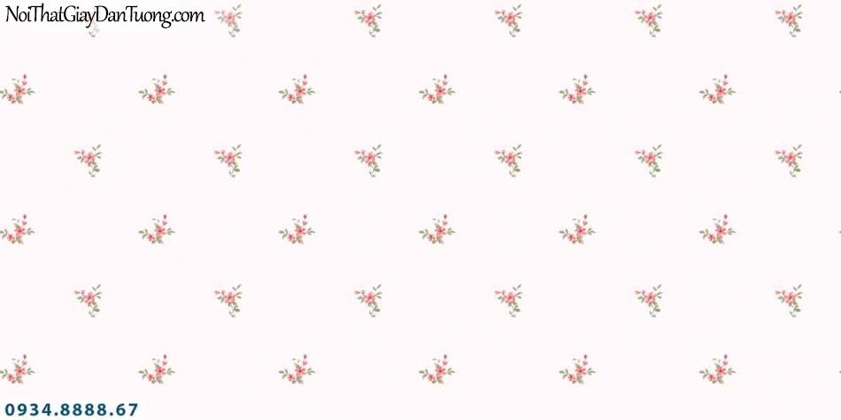 Lily | Giấy dán tường Lily 36002-1 | những bông hoa nhỏ li ty rơi, hoa bay trong gió màu hồng đẹp