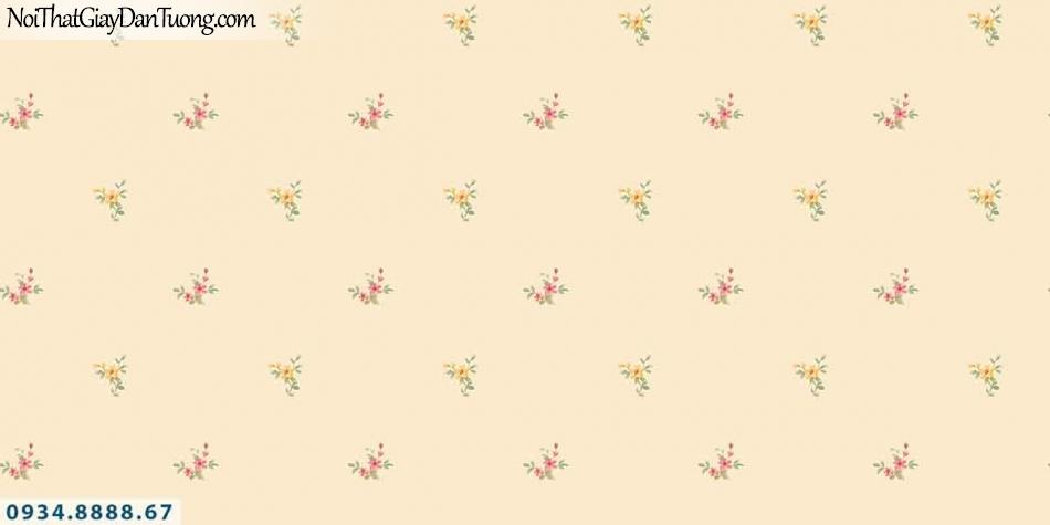 Lily | Giấy dán tường Lily 36002-2 | những bông hoa nhỏ bay trong gió, hoa rơi màu vàng 36002-2