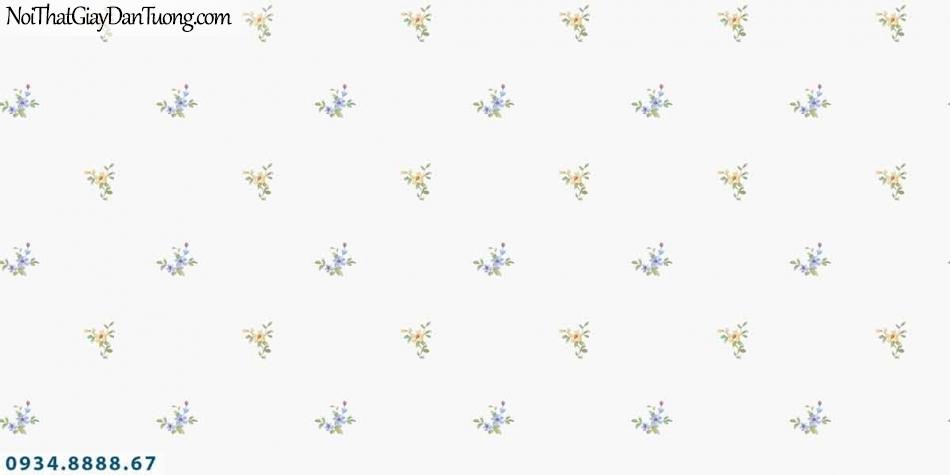 Lily | Giấy dán tường Lily 36002-4 | giấy dán tường hình hoa rơi, hoa bay trong gió những bông hoa nhỏ màu trắng