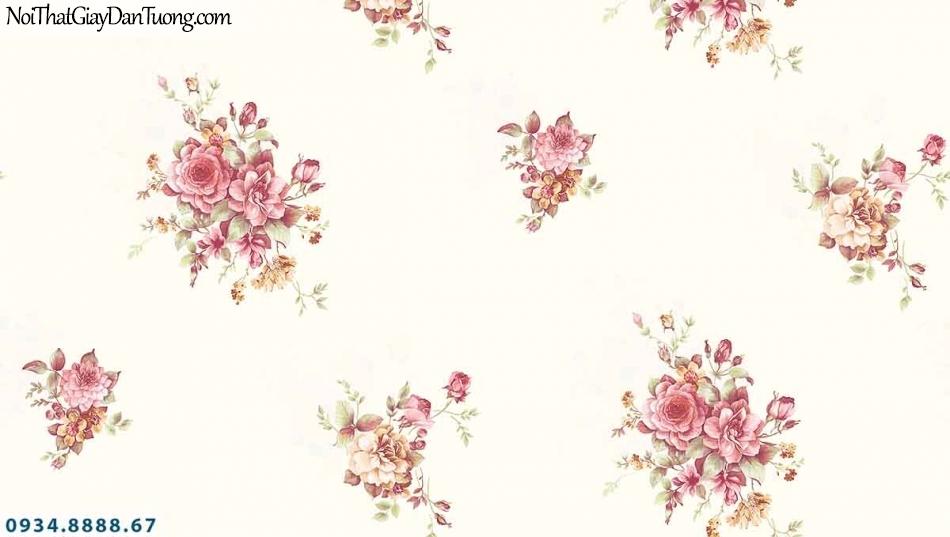 Lily | Giấy dán tường Lily 36004-2 | giấy dán tường bông hoa màu hồng, phù hợp với phòng ngủ