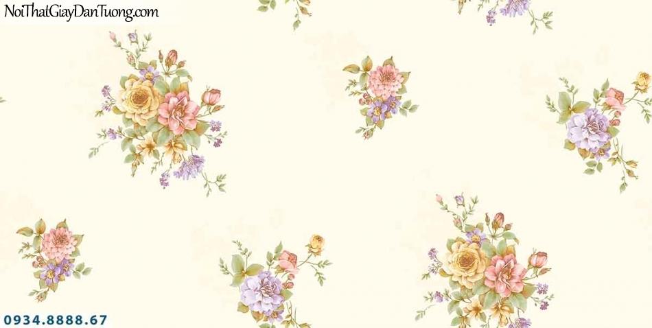 Lily | Giấy dán tường Lily 36004-6 | giấy dán tường bông hoa nền màu kem