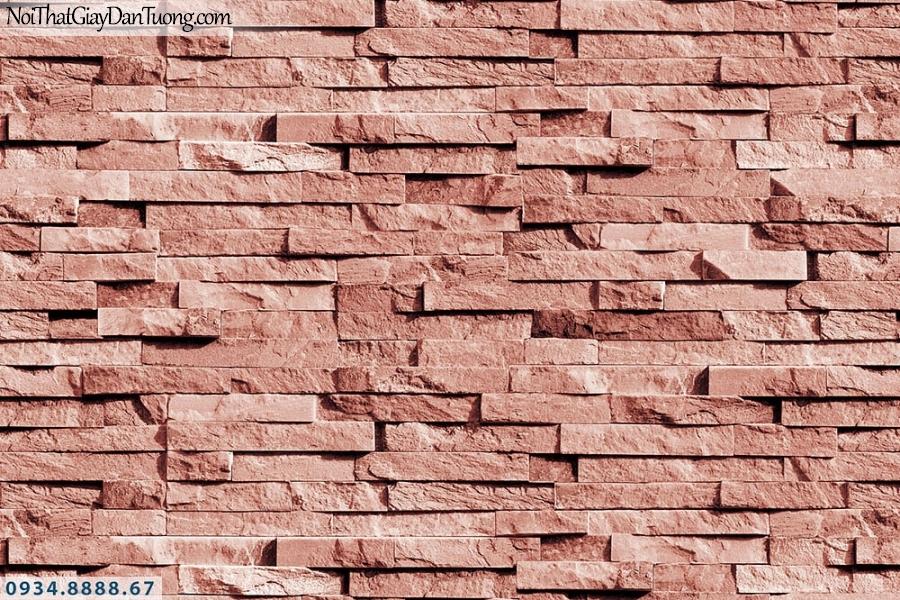 Martina | giấy dán tường Martina 19183 | giấy dán tường giả đá 3D, giả gạch màu hồng, màu đỏ