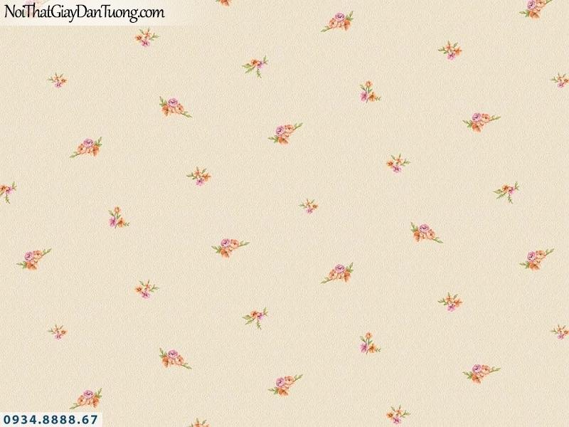 Martina | giấy dán tường Martina 19202 | giấy dán tường hoa nhỏ màu vàng, những bông hoa nhỏ li ti rơi đều trên tường