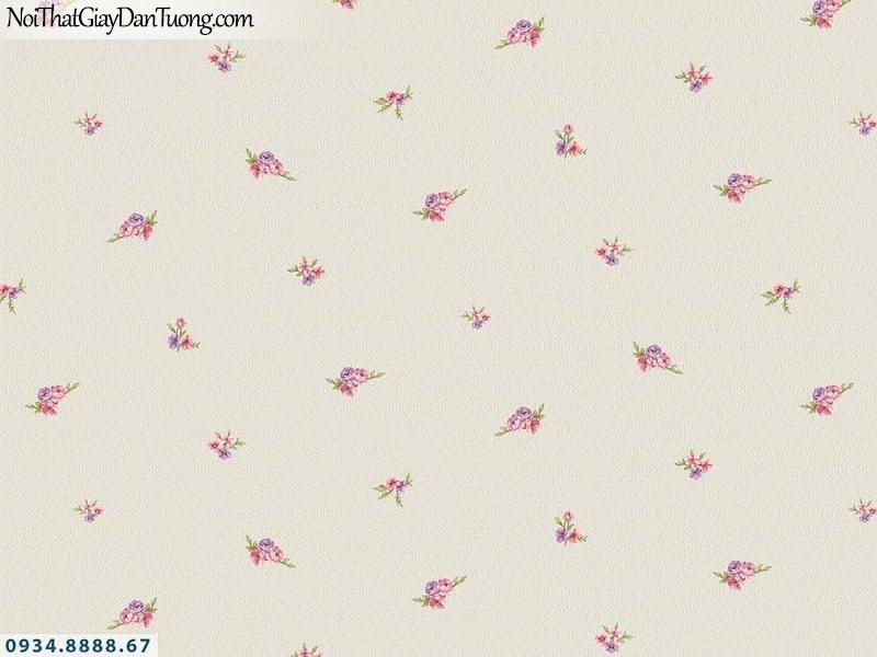 Martina | giấy dán tường Martina 19203 | giấy dán tường hoa nhỏ nhiều màu, màu vàng xám