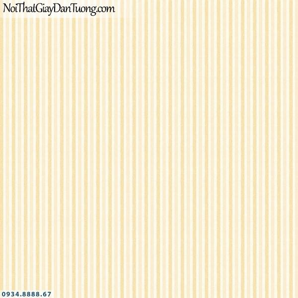 Martina | giấy dán tường Martina 40050 | giấy dán tường kẻ sọc màu vàng, sọc đều thẳng màu vàng cam