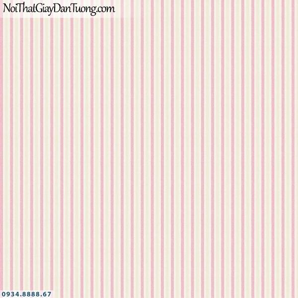 Martina | giấy dán tường Martina 40053 | giấy dán tường kẻ sọc màu hồng, giấy sọc màu đỏ, những đường sọc nhỏ chạy thẳng đều