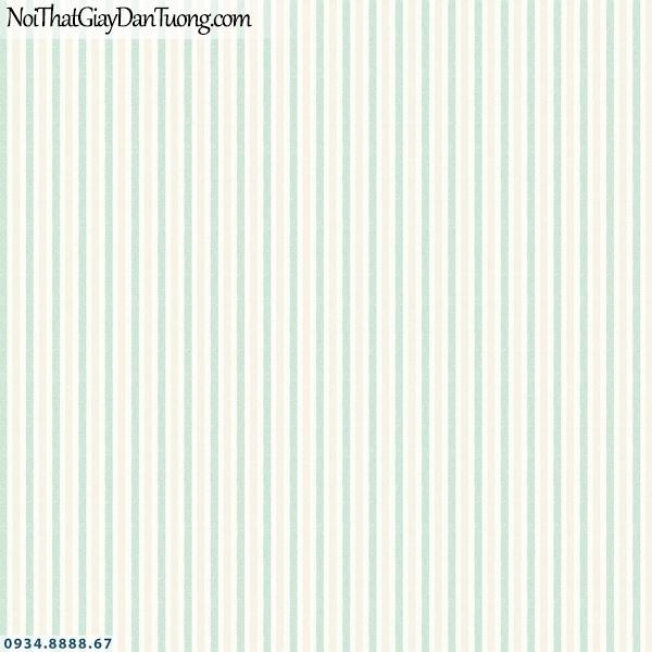 Martina | giấy dán tường Martina 40054 | giấy dán tường sọc màu xanh ngọc, xanh lá, xanh cốm, xanh chuối, kẻ sọc màu xanh