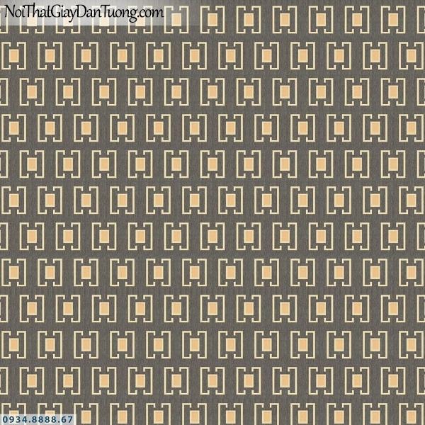 Martina | giấy dán tường Martina 40113 | giấy dán tường lập thể ô vuông màu xám, màu vàng