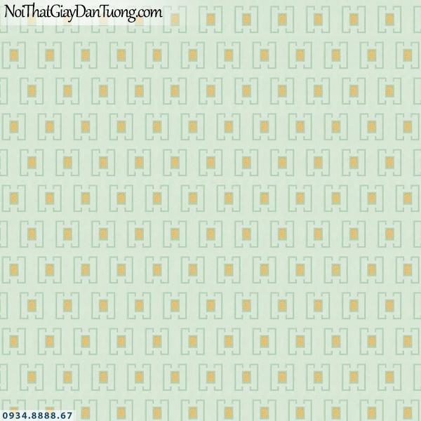 Martina | giấy dán tường Martina 40116 | giấy dán tường lập thể ô vuông màu xanh ngọc, xanh nhạt, xanh chuối, xanh lá cây