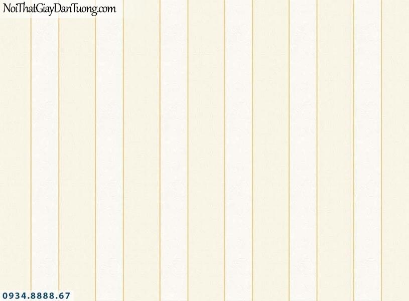 Martina | giấy dán tường Martina MGM1011 | giấy dán tường kẻ sọc bản lớn màu vàng kem, giấy sọc bản to thẳng đứng, tạo cảm giác phòng cao