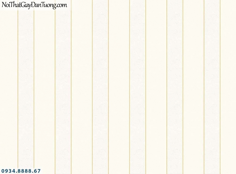 Martina | giấy dán tường Martina MGM1016 | giấy dán tường kẻ sọc màu kem, vàng kem, giấy sọc bản to, bản lớn, sọc thẳng đứng
