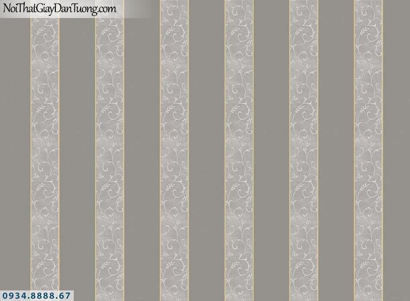 Martina | giấy dán tường Martina MGM1018 | giấy dán tường kẻ sọc màu nâu, sọc thẳng đứng bản lớn, sọc bản to