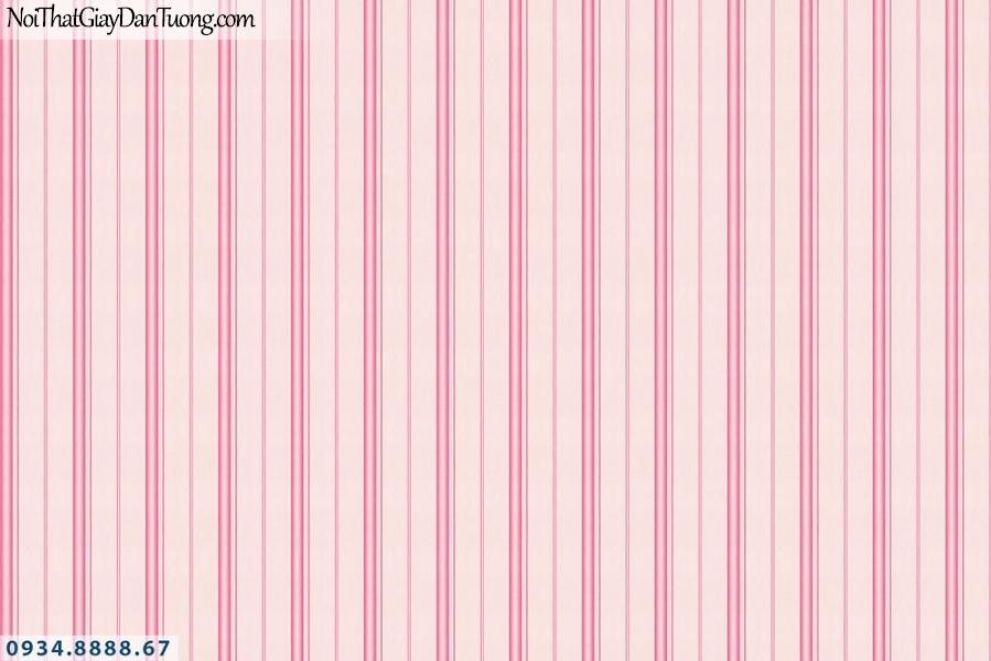 Martina | giấy dán tường Martina 1002-1 | giấy dán tường trẻ em, giấy kẻ sọc màu hồng, phối màu với hình công chúa
