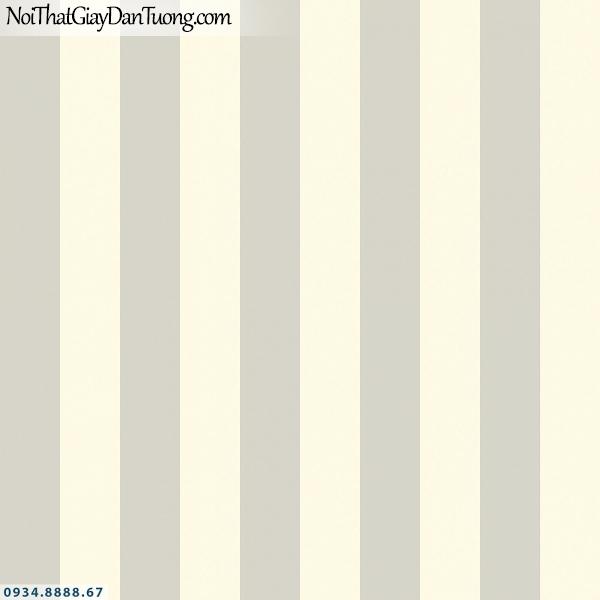 Martina | giấy dán tường Martina 1009-2 | giấy dán tường trẻ em kể sọc màu vàng kem, kết hợp với giấy hình cầu thủ bóng đá