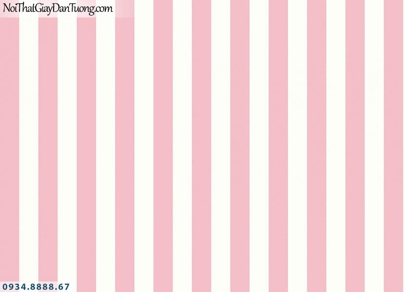 Martina | giấy dán tường Martina 2021-1 | giấy dán tường kẻ sọc màu đỏ, màu trắng, sọc đỏ trắng thẳng đều