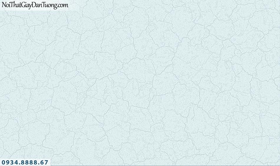 FLORIA | Giấy dán tường Floria 7705-4 | giấy dán tường giả bê tông màu xanh, màu bê tông xi măng, vách tường nứt, cũ