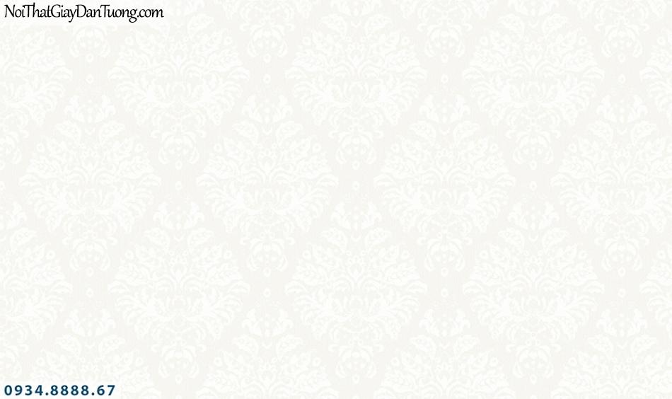 FLORIA | Giấy dán tường Floria 7710-2 | giấy dán tường màu kem, vàng kem, hoa văn cổ điển, lập thể ca rô