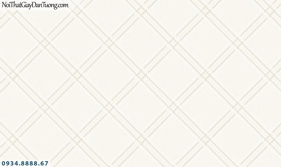 FLORIA | Giấy dán tường Floria 7712-1 | giấy dán tường ca rô màu kem, hình thoi, ca rô to lớn