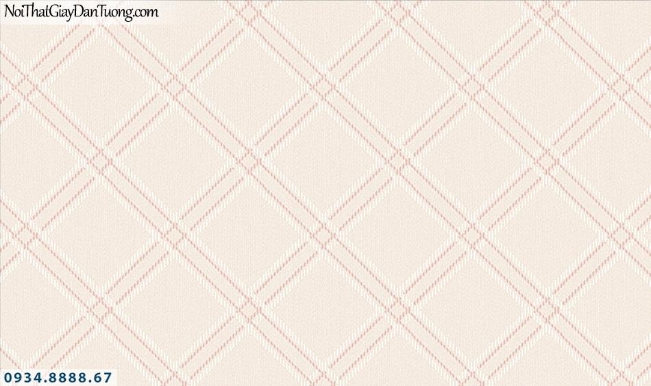 FlORIA | Giấy dán tường Floria 7712-2 | giấy dán tường họa tiết ca rô lớn, hình thoi to màu hồng