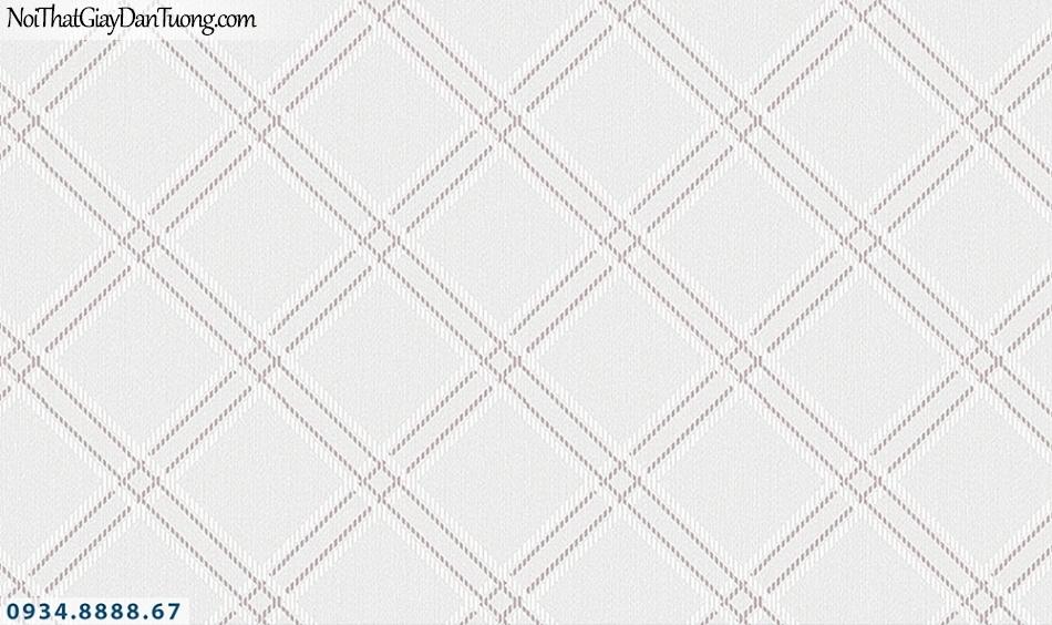FLORIA | Giấy dán tường Floria 7712-3 | giấy dán tường ca rô màu tím nhạt, hình thoi to