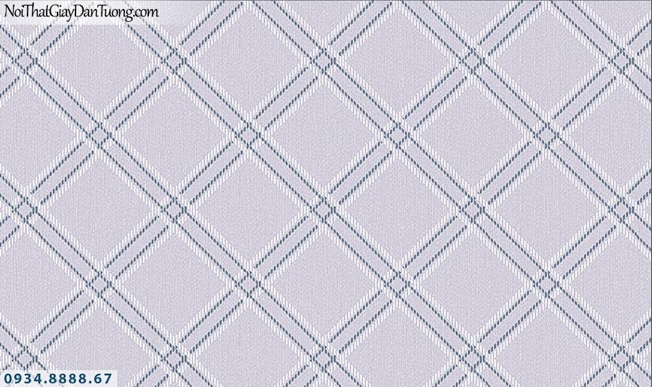 FLORIA | Giấy dán tường Floria 7712-4 | giấy dán tường kiểu ca rô lớn, caro màu tím