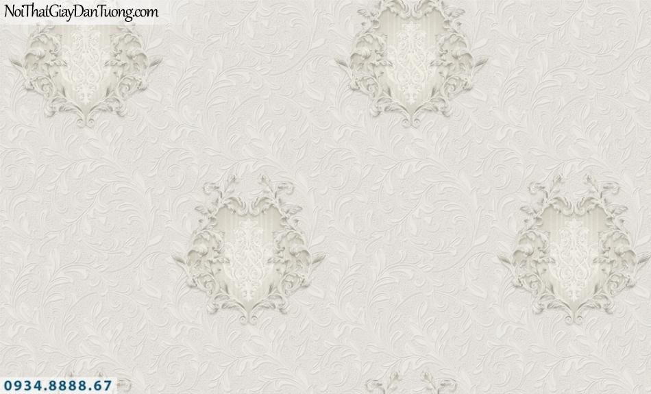 FIESTA | Giấy dán tường 3D màu xám đẹp, giấy hoa văn 3D | Giấy dán tường Fiesta 23002