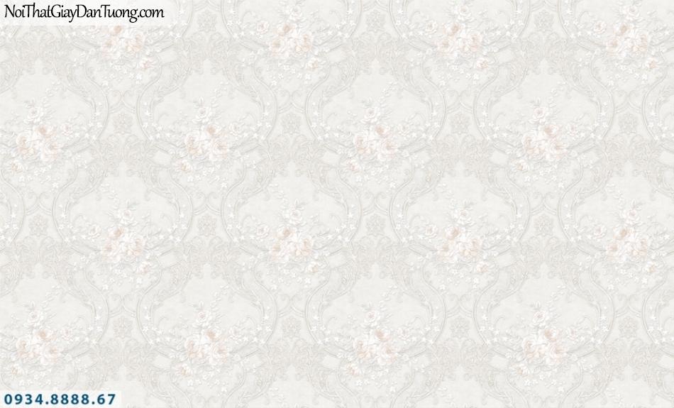 FIESTA | Giấy dán tường cổ điển màu trắng, trắng kem | Giấy dán tường Fiesta 23024