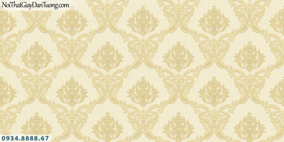 FIESTA | Giấy dán tường cổ điển màu vàng, phong cách Châu Âu | Giấy dán tường Fiesta 23045