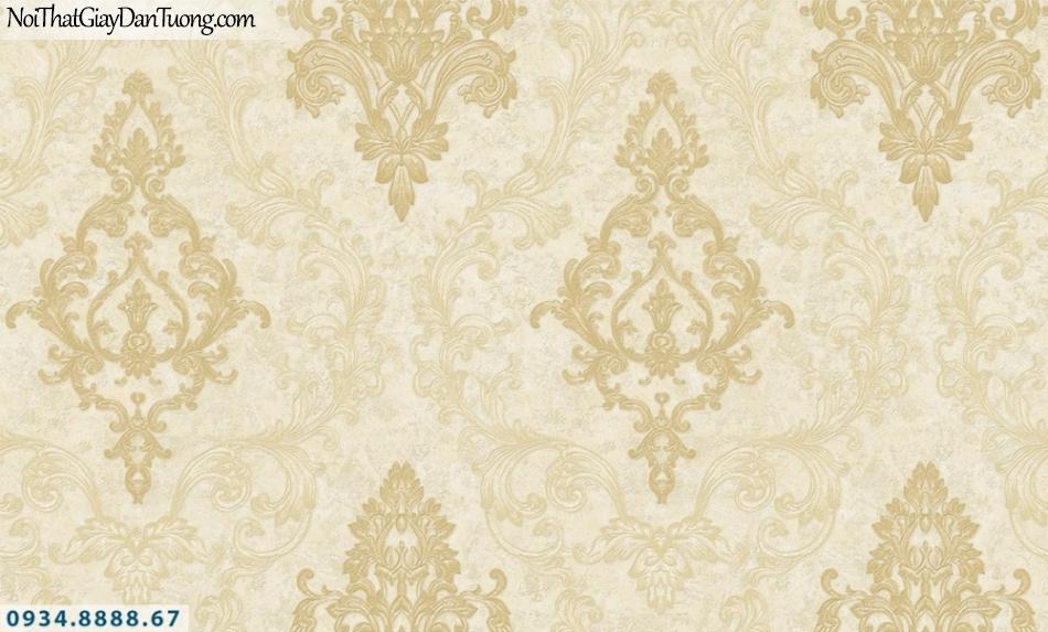 FIESTA | Giấy dán tương cổ điển màu vàng, phong cách Châu Âu sang trọng | Giấy dán tường Fiesta 23203