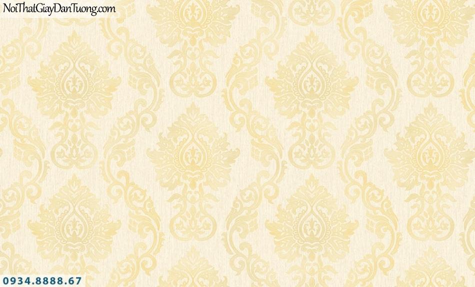 FIESTA | Giấy dán tường cổ điển màu vàng, phong cách cổ xưa Châu Âu sang trọng| Giấy dán tường Fiesta 23233