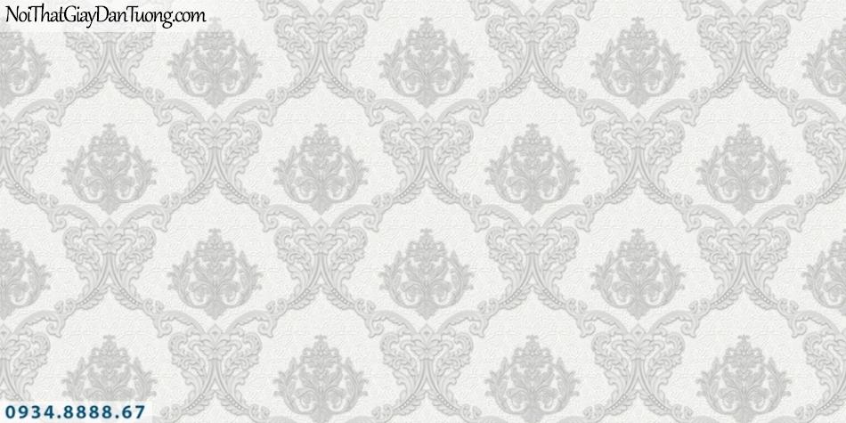 FIESTA | Giấy dán tường cổ điển màu xám, màu tráng xám | Giấy dán tường Fiesta 23041