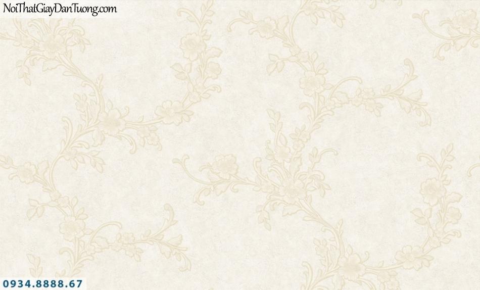 FIESTA | Giấy dán tường dạng dây hoa leo màu kem, màu trắng xám | Giấy dán tường Fiesta 23252
