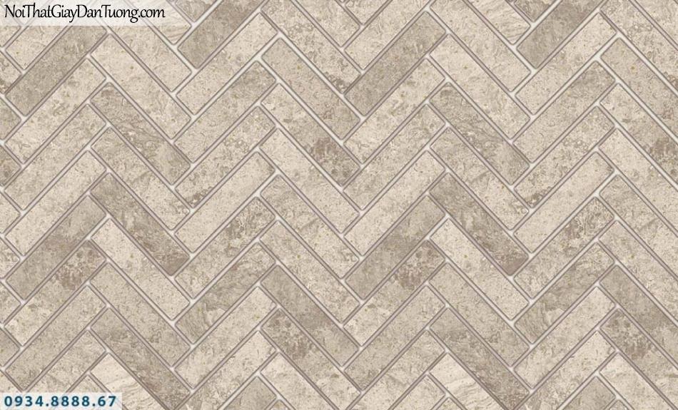 FIESTA | Giấy dán tường hình nền gạch màu bê tông, giấy giả gạch 3D màu vàng kem | Giấy dán tường Fiesta 23064