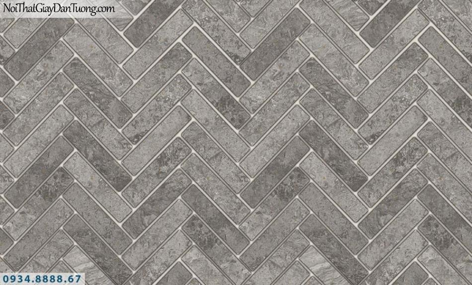 FIESTA | Giấy dán tường hình nền gạch màu xám tối, mà xám tro, giả gạch màu bê tông | Giấy dán tường Fiesta 23062
