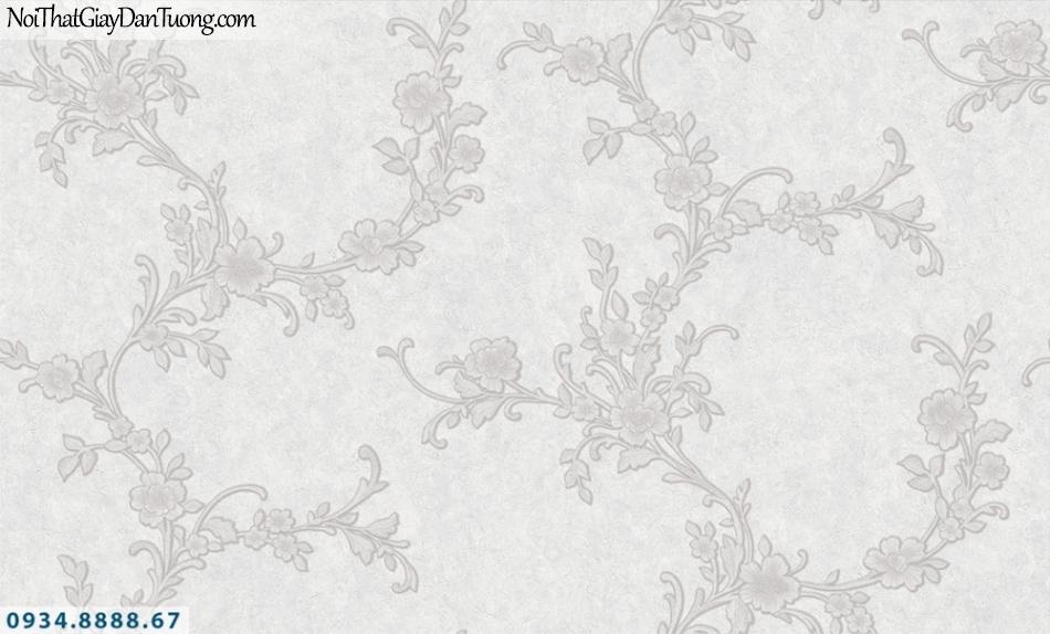 FIESTA | Giấy dán tường hoa dây leo tường màu xám | Giấy dán tường Fiesta 23254