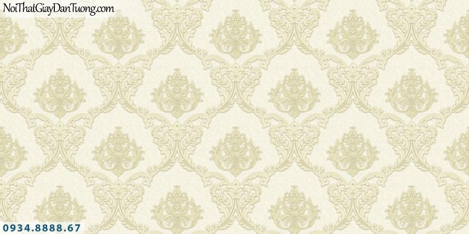 FIESTA | Giấy dán tường họa tiết Châu Âu cổ điển màu vàng | Giấy dán tường Fiesta 23042