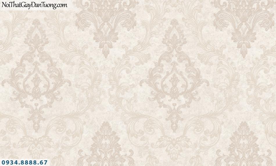 FIESTA | Giấy dán tường hoa văn cổ điển màu hồng nhạt, style Châu Âu | Giấy dán tường Fiesta 23204