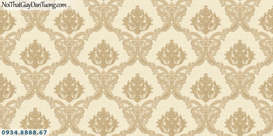 FIESTA | Giấy dán tường hoa văn cổ điển, phong cách Châu Âu, màu vàng đậm | Giấy dán tường Fiesta 23043