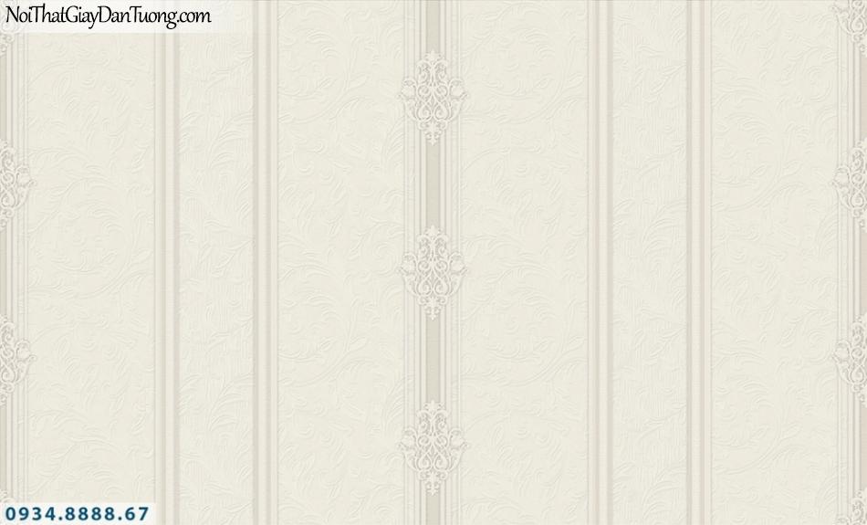 FIESTA | Giấy dán tường kẻ sọc to, sọc lớn, giấy sọc hoa văn màu xám, trắng xám| Giấy dán tường Fiesta 23072