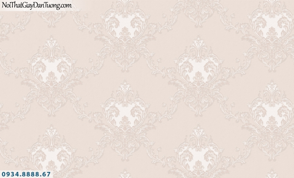 FIESTA | Giấy dán tường màu hồng, hoa văn cổ điển | Giấy dán tường Fiesta 23224