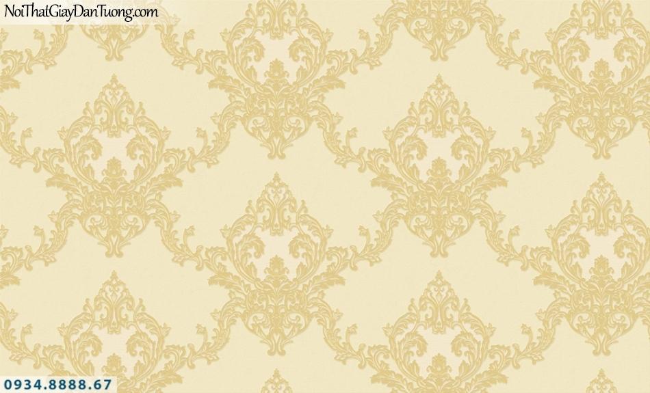 FIESTA | Giấy dán tường màu vàng, hoa văn cổ điển Châu Âu | Giấy dán tường Fiesta 23223