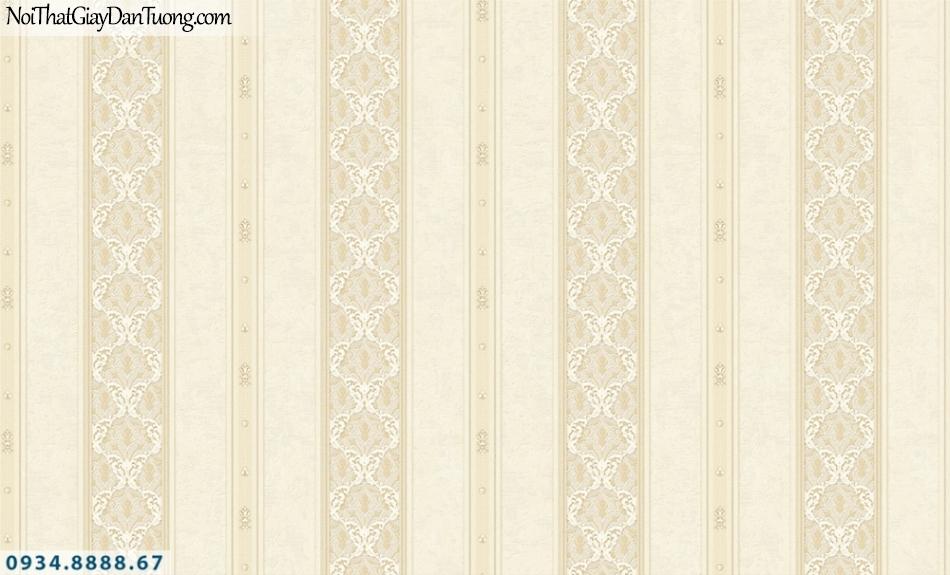 FIESTA | Giấy dán tường sọc to màu vàng kem, sọc lớn, sọc nhỏ, sọc thẳng đứng | Giấy dán tường Fiesta 23084