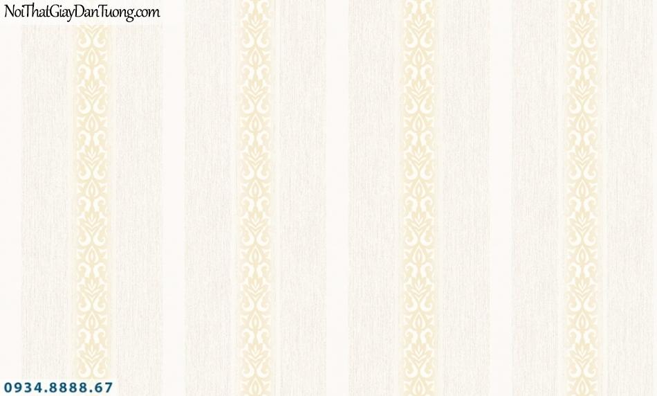 FIESTA | Giấy dán tường sọc to, sọc nhỏ màu vàng kem, giấy kẻ sọc đẹp | Giấy dán tường Fiesta 23241