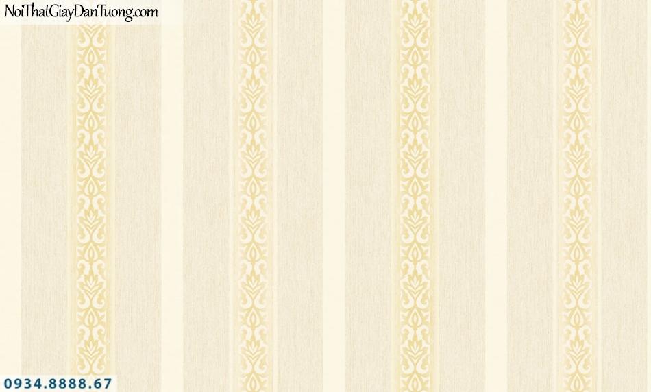 FIESTA | Giấy kẻ sọc màu vàng, sọc lớn, sọc nhỏ, sọc thẳng đứng | Giấy dán tường Fiesta 23243