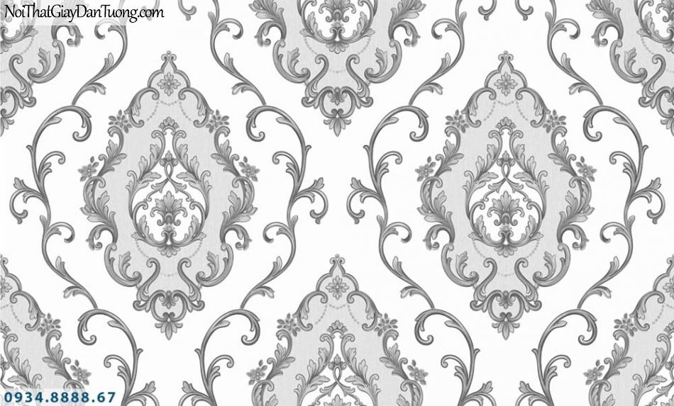 URANUS | Giấy dán tường cổ điển đen trắng, hoa văn trắng đen đẹp | Giấy dán tường Uranus 13003-5