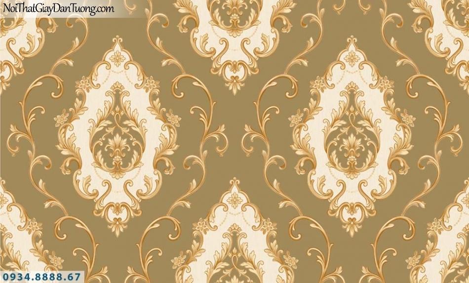 URANUS | Giấy dán tường cổ điển màu vàng cam, ấn tượng sang trọng | Giấy dán tường Uranus 13003-2