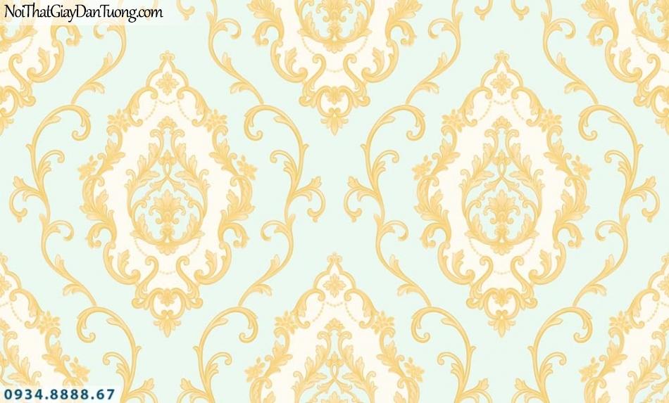 URANUS | Giấy dán tường cổ điển màu xanh, màu vàng | Giấy dán tường Uranus 13003-4