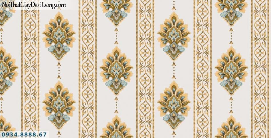 URANUS | Giấy dán tường kẻ sọc màu vàng, sọc thẳng to màu kem, sọc lớn, sọc nhỏ | Giấy dán tường Uranus 13006-7