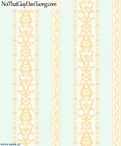 URANUS | Giấy dán tường kẻ sọc màu xanh lơ, màu vàng, sọc to sọc nhỏ, sọc lớn | Giấy dán tường Uranus 13007-4